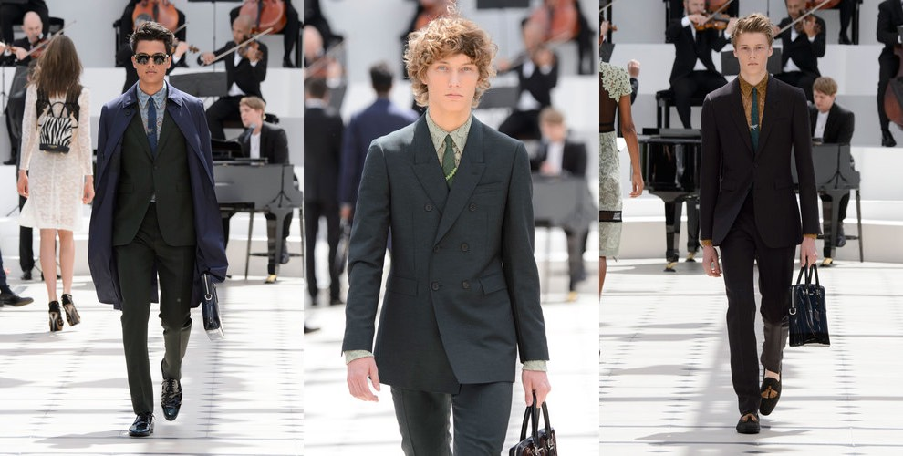 Burberry moda uomo primavera estate 2016
