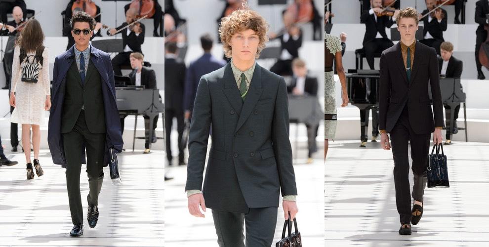 Burberry moda uomo primavera estate 2016