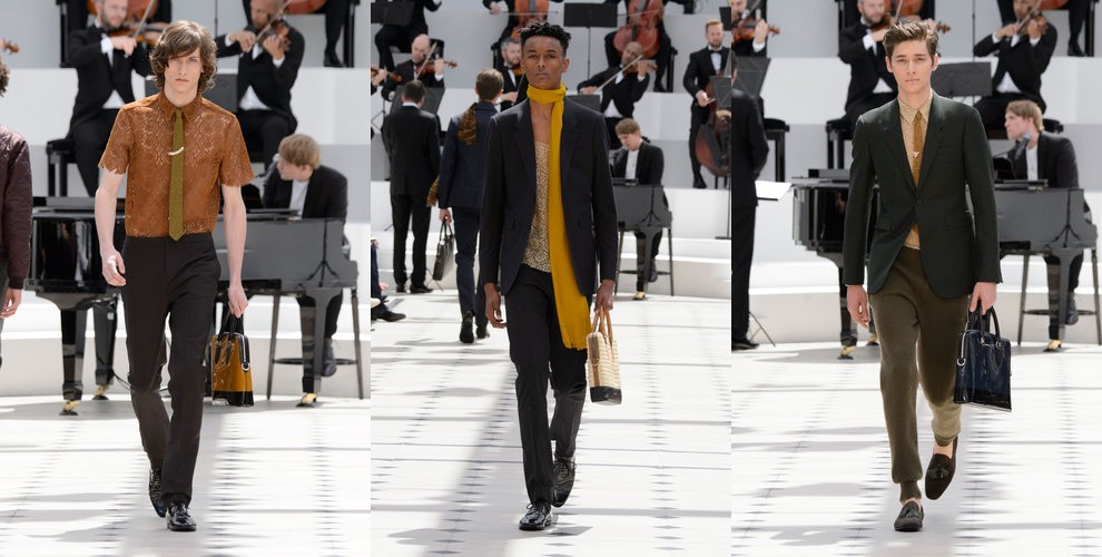 Burberry sfilata moda uomo estate 2016