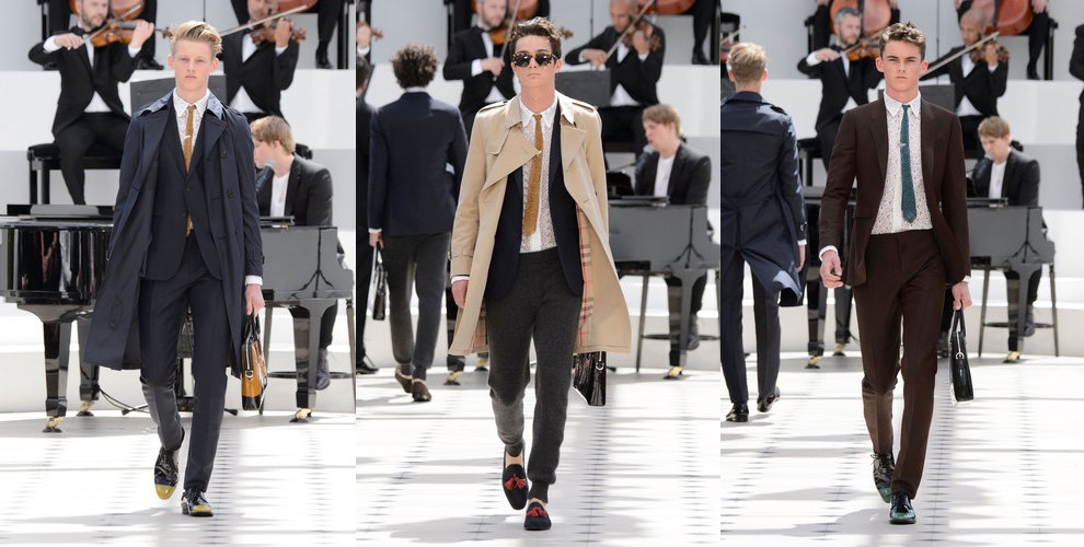 Burberry uomo primavera estate 2016