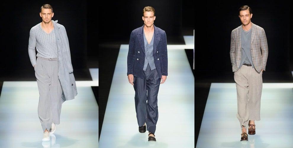 Giorgio Armani moda uomo primavera estate 2016