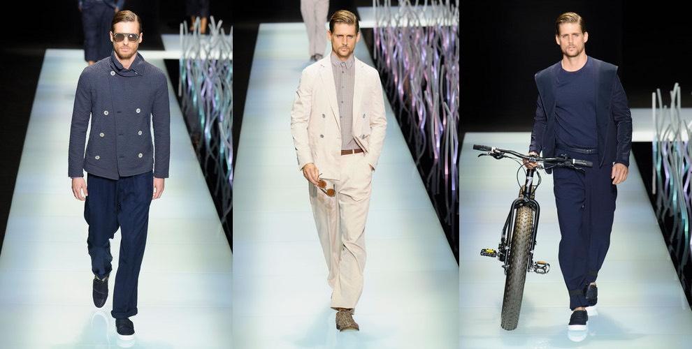 Giorgio Armani uomo.12 abiti Top della collezione primavera estate ... a0db85d4133