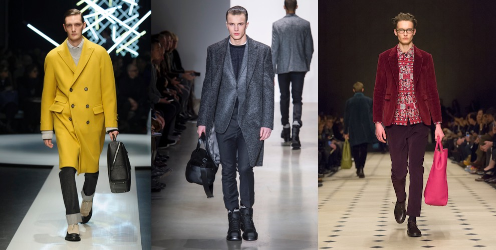 I nuovi colori moda uomo autunno inverno 2015 2016 moda for Colori moda inverno 2018