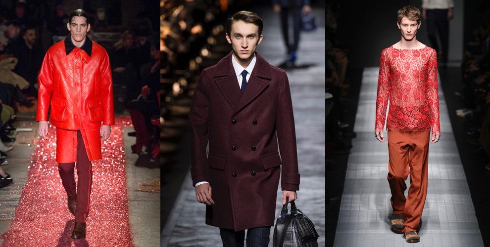 vestiti rossi uomo inverno 2015
