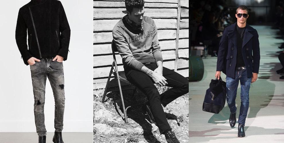 Jeans moda uomo inverno 2015-2016