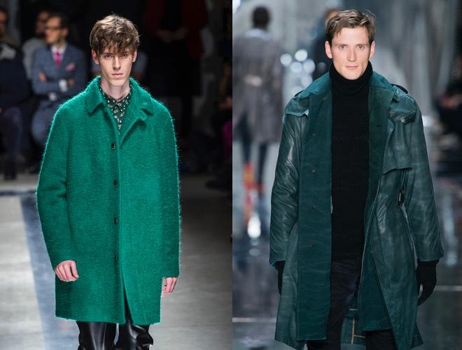 Uomo cappotto verde inverno 2016