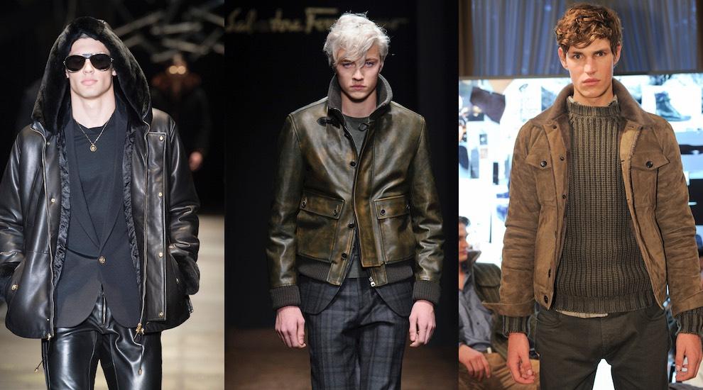 giacche pelle uomo inverno2016