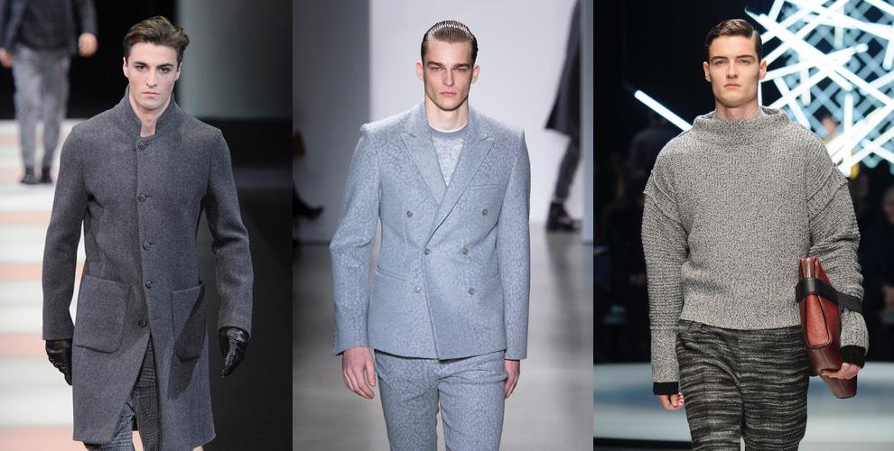 moda uomo vestiti grigi inverno 2015-2016