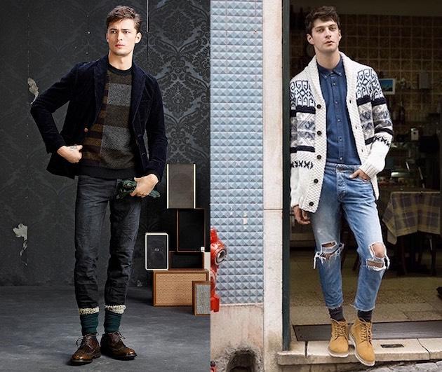 Jeans moda uomo inverno