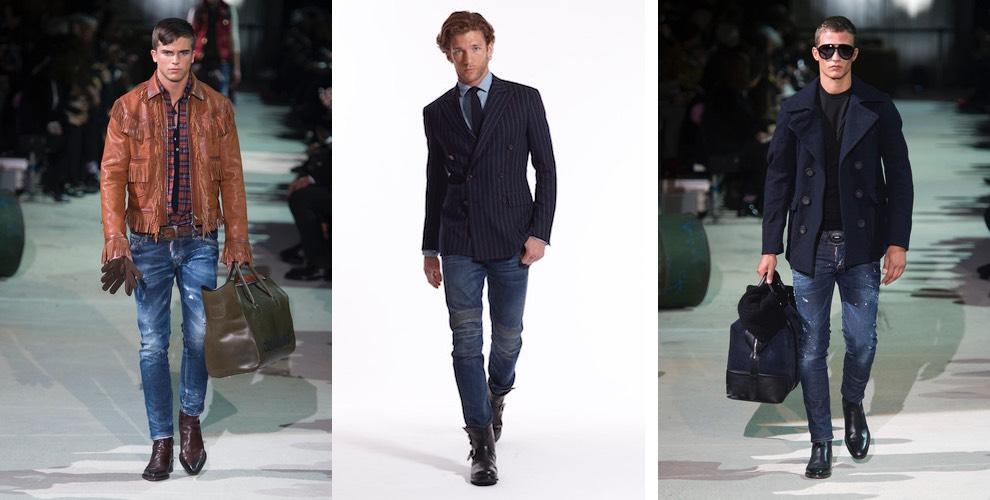 Moda uomo inverno Jeans stretti