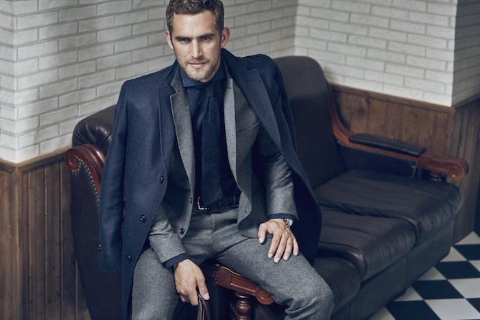 vestito con cappotto uomo