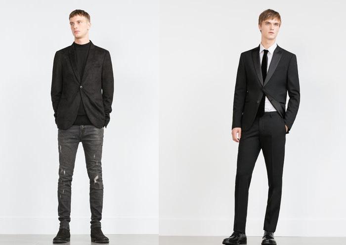 abito nero Zara uomo inverno 2016