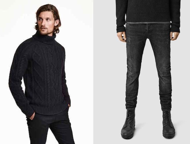 maglione e jeans uomo inverno 2016