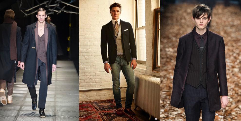 moda uomo giacca e gilet invernale