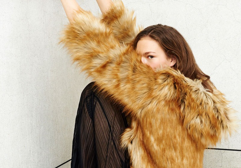 giacca pelliccia zara