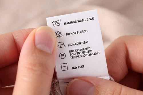 istruzioni lavaggio