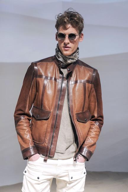 Belstaff giacca pelle uomo primavera estate 2016