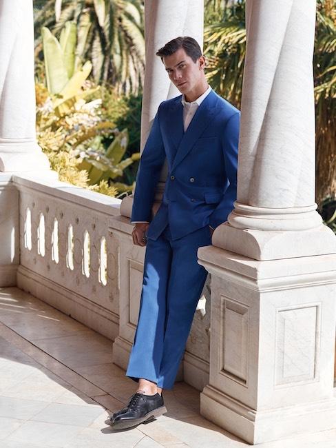 Vestito Matrimonio Uomo Blu Elettrico : Vestito elegante uomo blu elettrico su abiti da