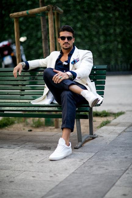 Uomo moda estate casual elegante-street style
