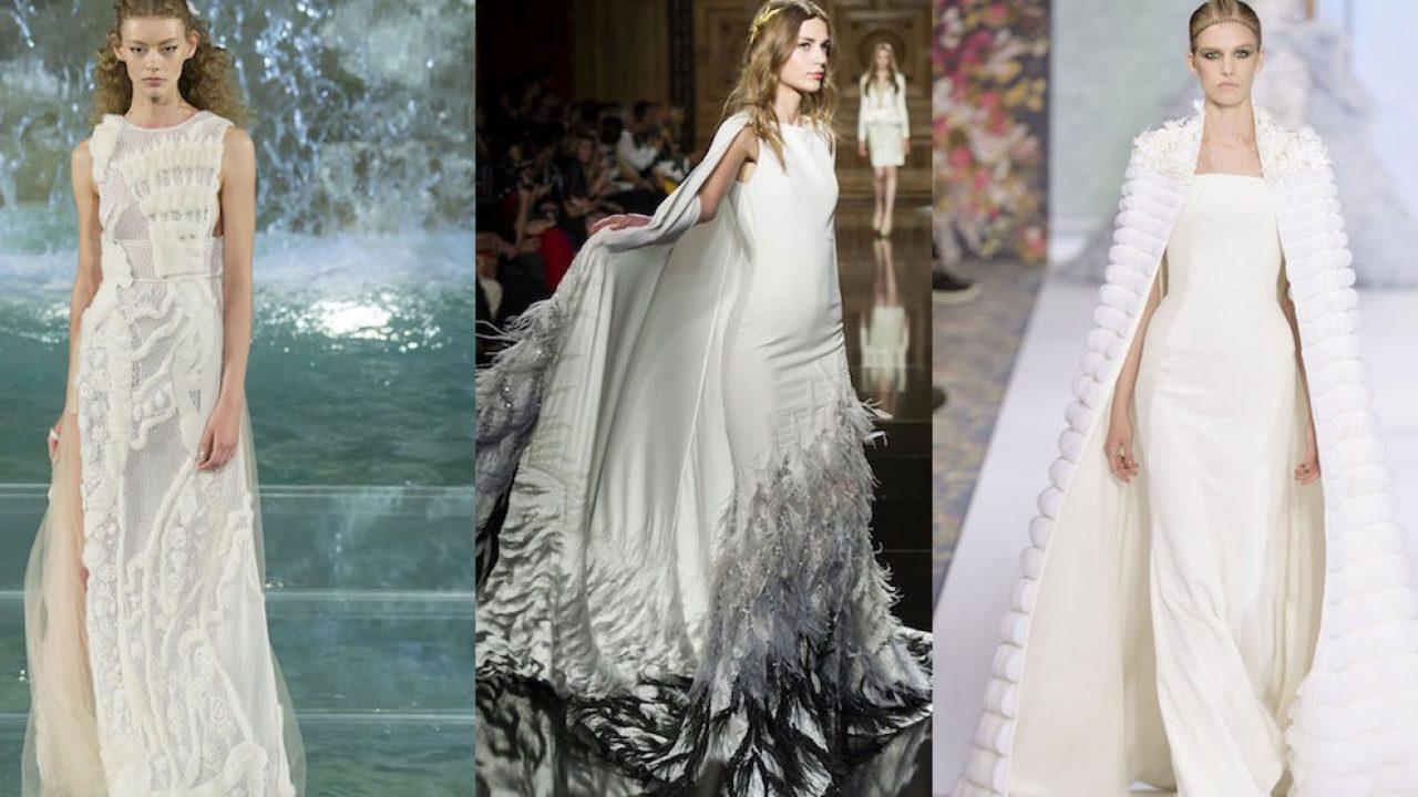 finest selection 66839 a67b4 La sposa inverno 2017 secondo l'Alta Moda: non solo bianco ...