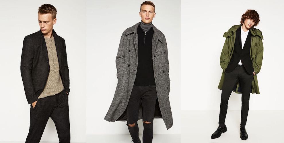 Zara abiti uomo autunno inverno 2016-2017