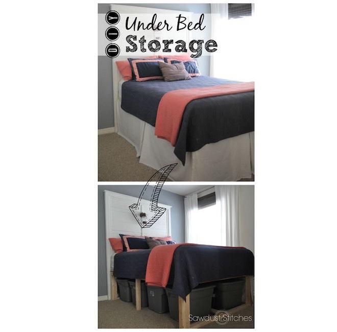 abiti sotto il letto