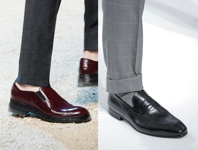 pantaloni grigi scarpe