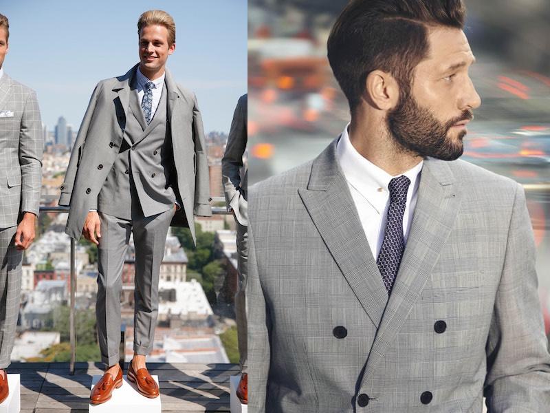abiti grigi primavera moda uomo 2017