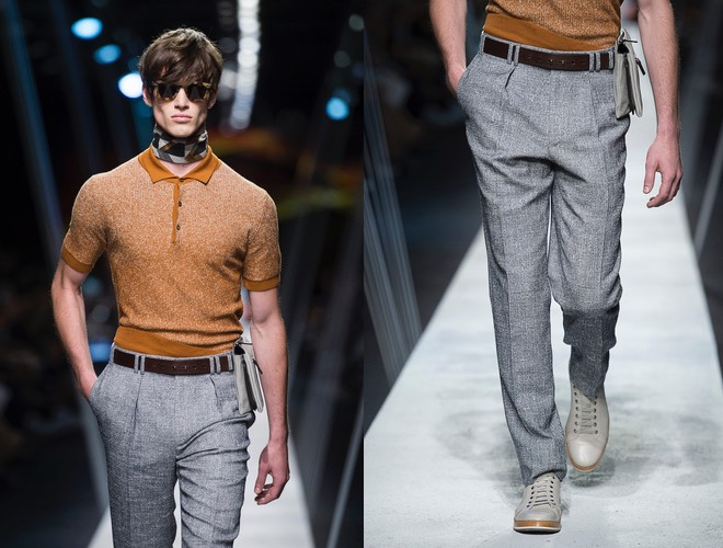 canali estate 2017 pantaloni grigi polo
