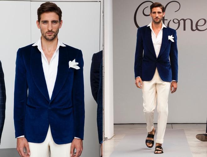 Giacca Matrimonio Uomo : Giacca blu estate cifonelli moda uomo donna