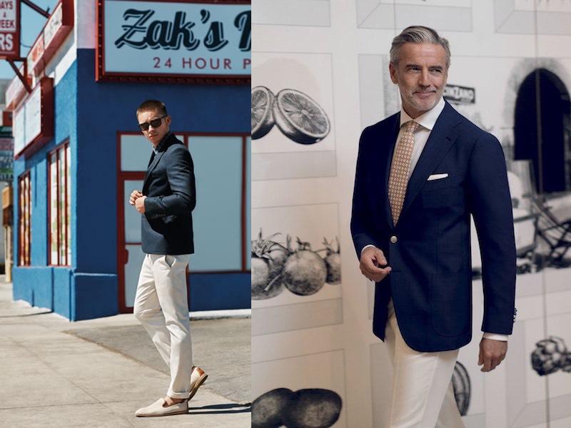 giacca blu moda uomo estate 2017 abbinamenti