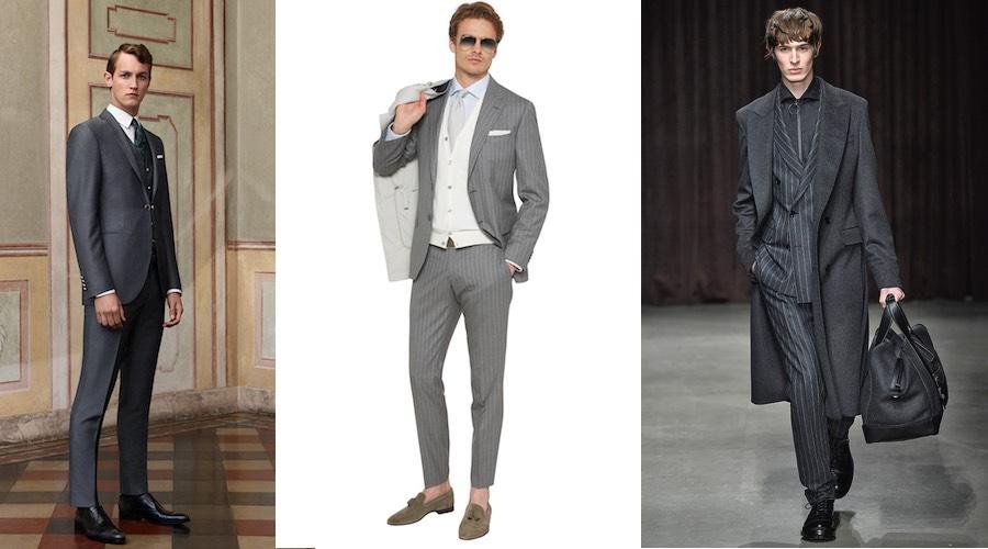 abiti eleganti grigio uomo 2017-2018
