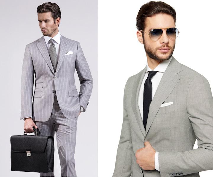 moda uomo 2017-vestiti eleganti grigi