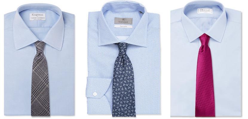 abbinare cravatta camicia azzurra