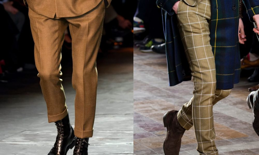 moda uomo pantaloni inverno 2017-2018
