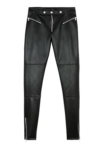 pantaloni in pelle donna bershka inverno 2017-2018