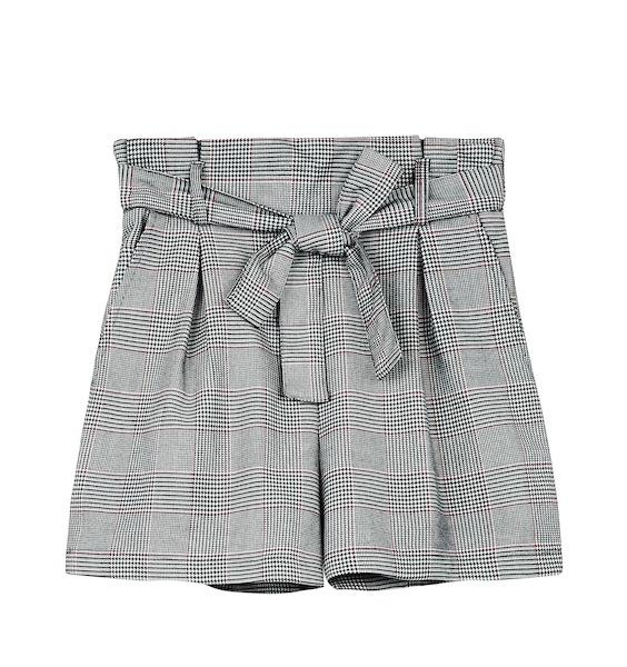 shorts inverno a vita alta di bershka