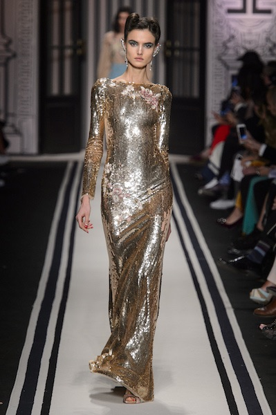 Elisabetta Franchi abito oro inverno 2017 2018 1e499a9dc72