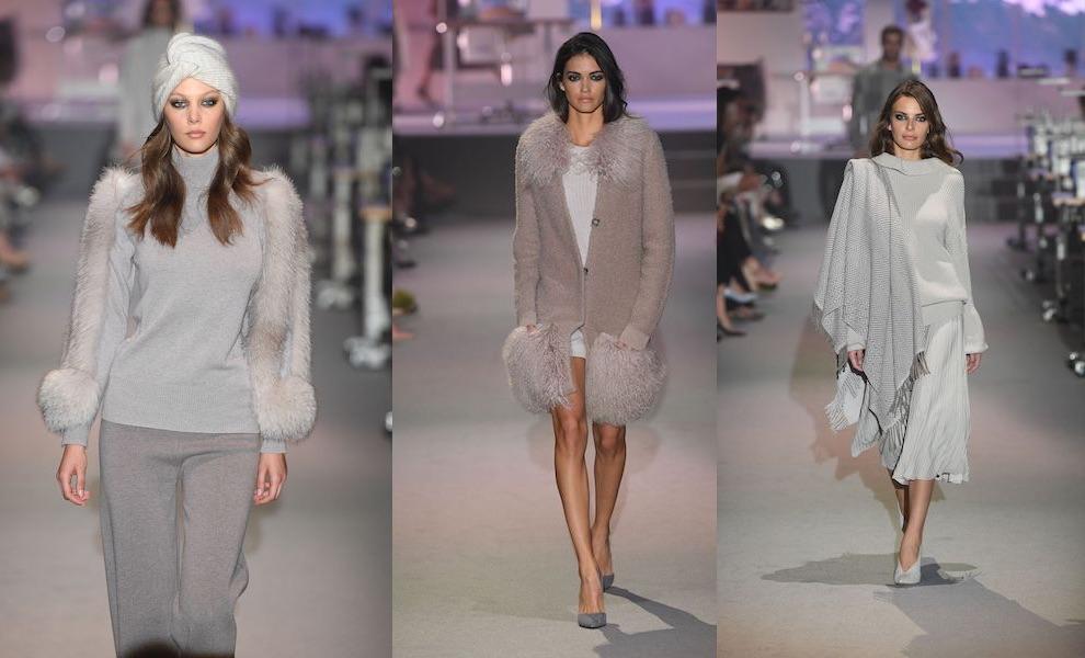 Falconeri donna abbigliamento inverno 2018 sfilata