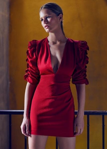 mango abito rosso corto inverno 2017 8cff62db3bd