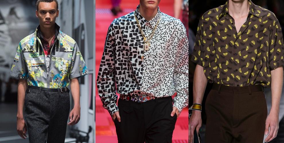camicie fantasia moda uomo primavera estate 2018