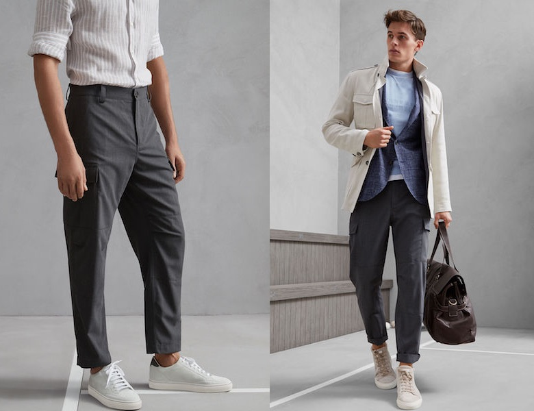 pantaloni uomo cargo primavera estate 2018