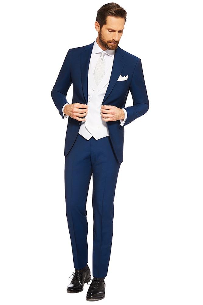 Abito Matrimonio Uomo Tight : Uomo vestito sposo blu nero spezzato e colorato moda
