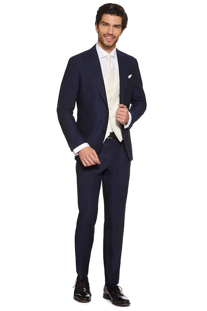 Abito Da Cerimonia Uomo Azzurro : Uomo vestito sposo blu nero spezzato e colorato
