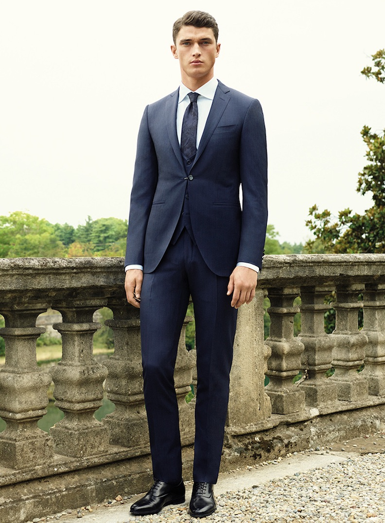 Abito Uomo Matrimonio Mattina : Uomo vestito sposo blu nero spezzato e colorato