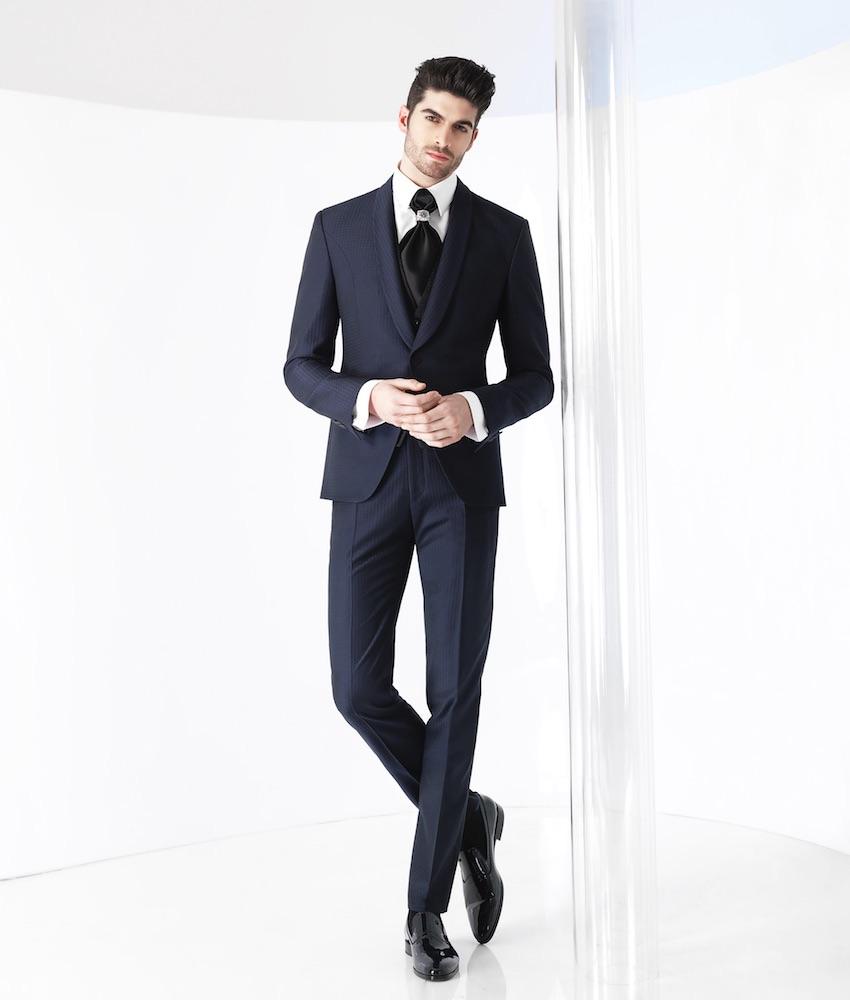 Vestito Matrimonio Uomo Frac : Uomo vestito sposo blu nero spezzato e colorato