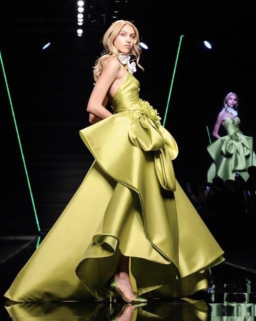 Elisabetta Polignano abito da sposa colorato 2019