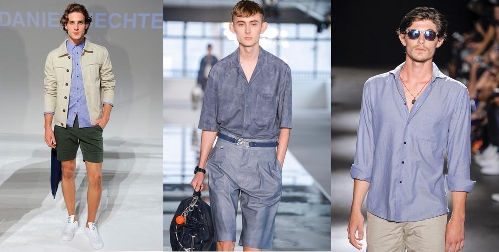 camicia e bermuda moda uomo estate 2018