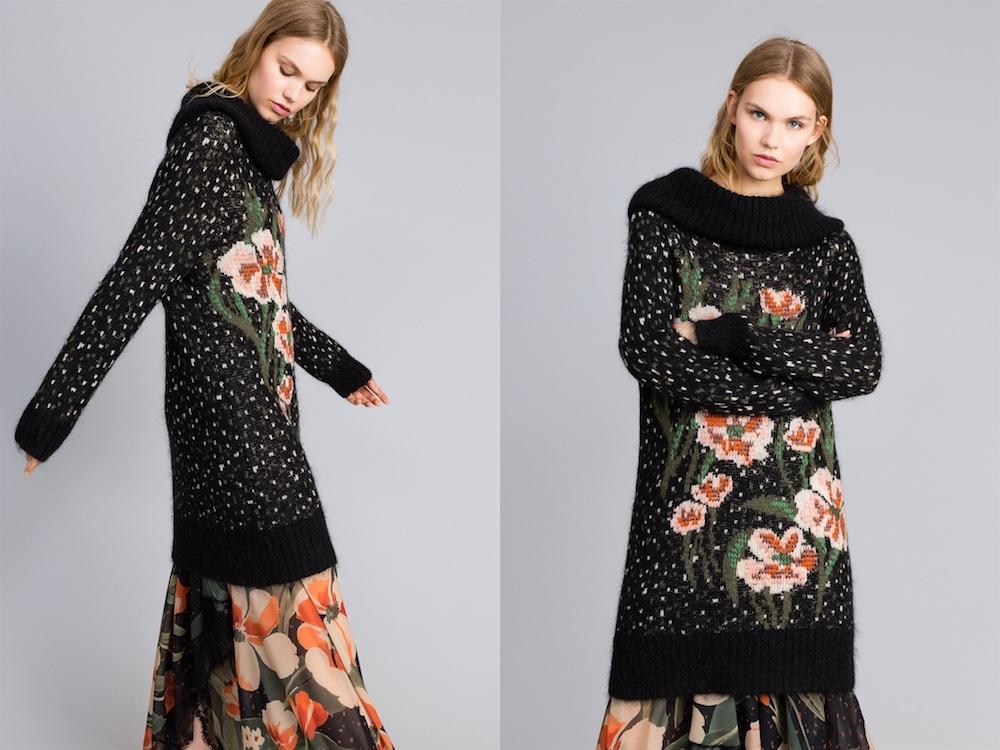 abito in lana twinset inverno 2018-2019