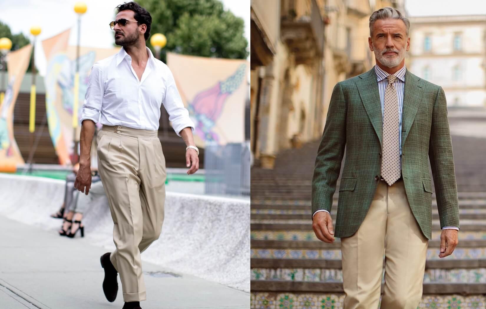 Pantaloni beige: 5 abbinamenti uomo che funzionano sempre